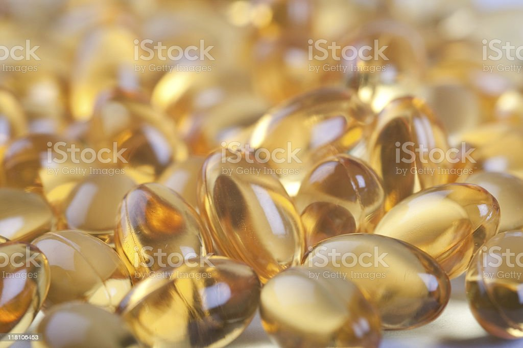Cod Liver Oil Tablets royalty-free stock photo
