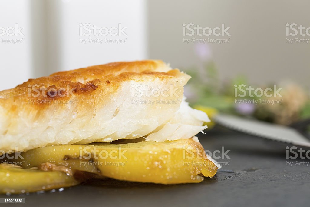 Cod with honey royalty-free stock photo