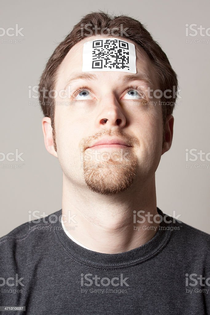 QR code directing to a personal website stock photo