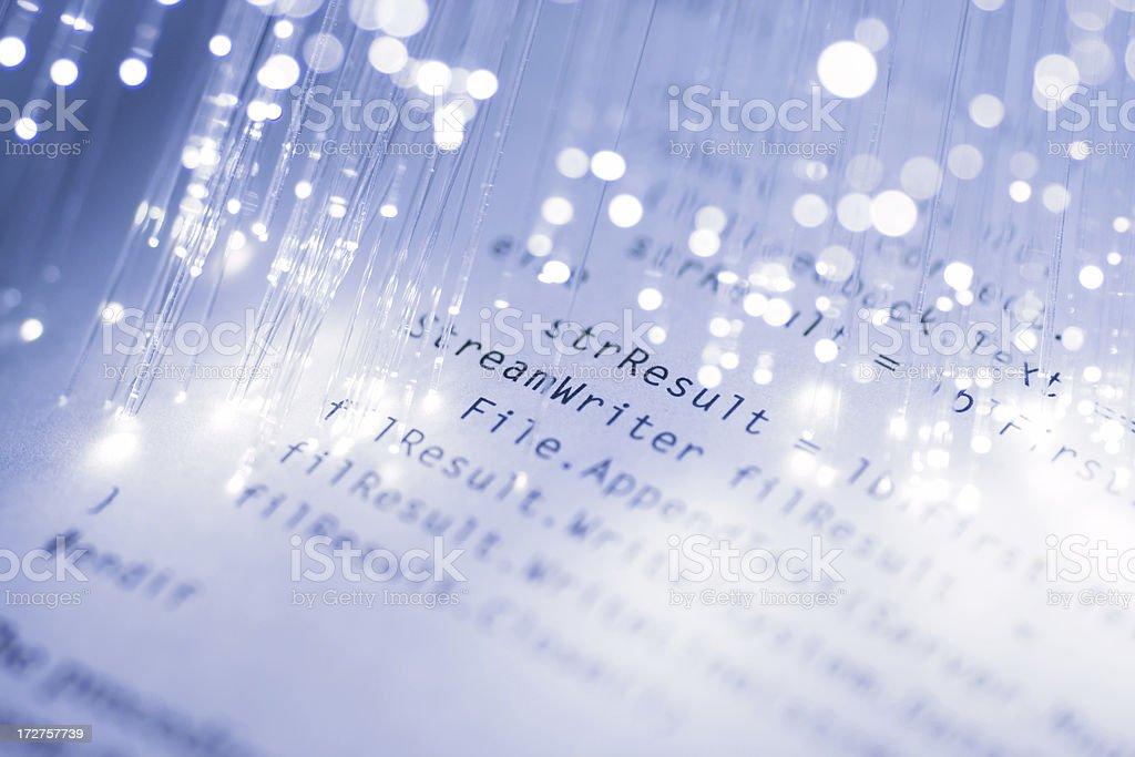 Code & Fiber Optics royalty-free stock photo