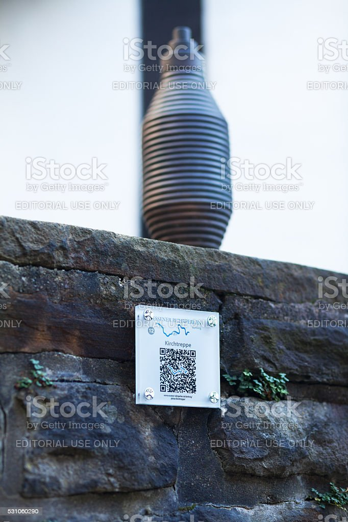 QR code for pearls of Ruhrgebiet stock photo