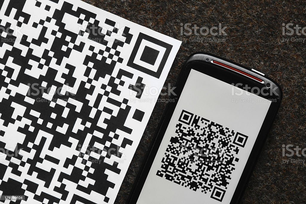 QR code mobile scanner royalty-free stock photo