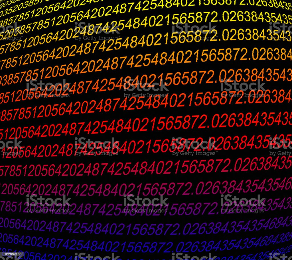 Code - Multicolored royalty-free stock photo