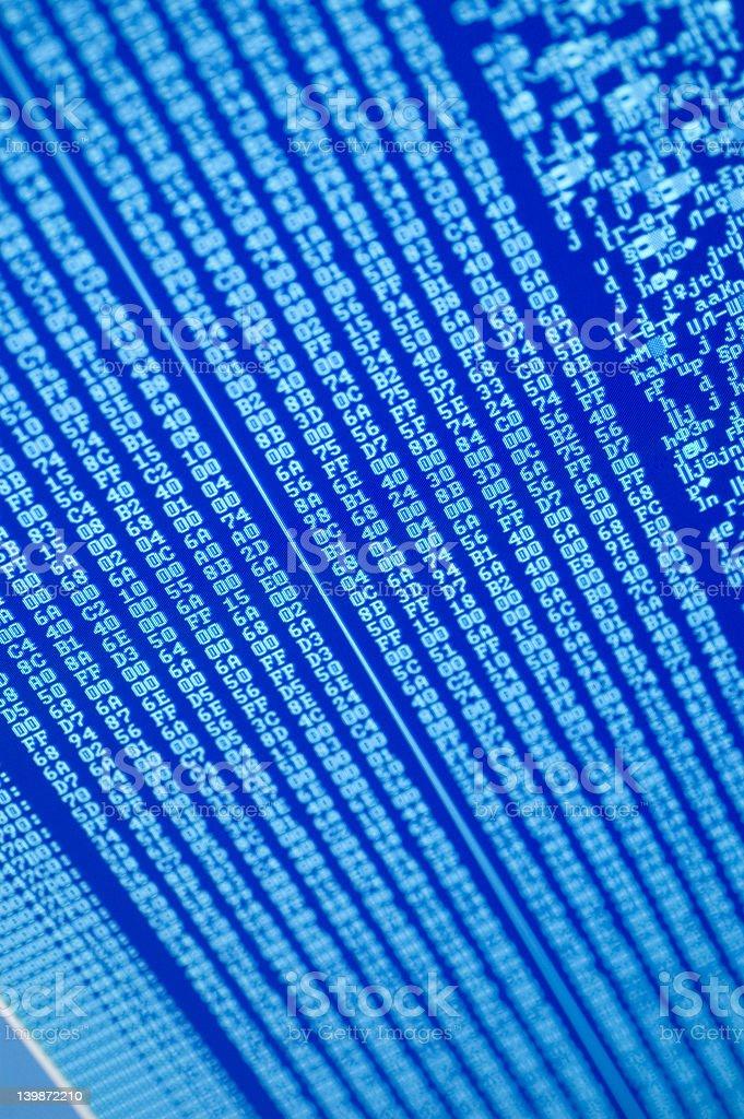code or digital numbers royalty-free stock photo