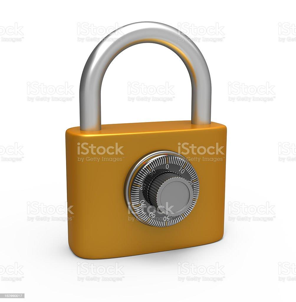 Code padlock royalty-free stock photo