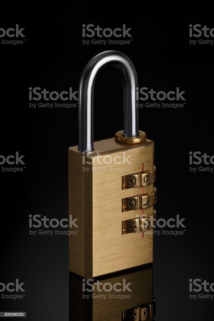 Code padlock stock photo