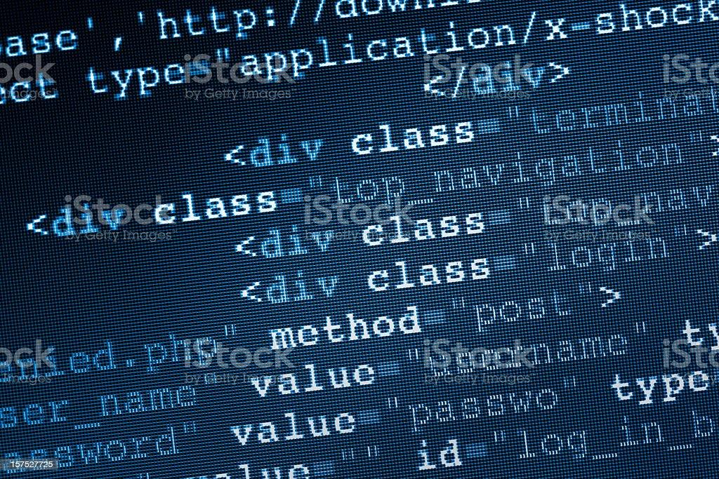 HTML Code stock photo