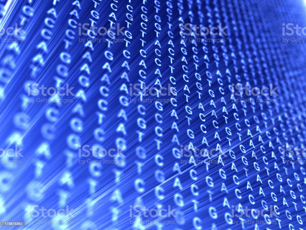 DNA code royalty-free stock photo