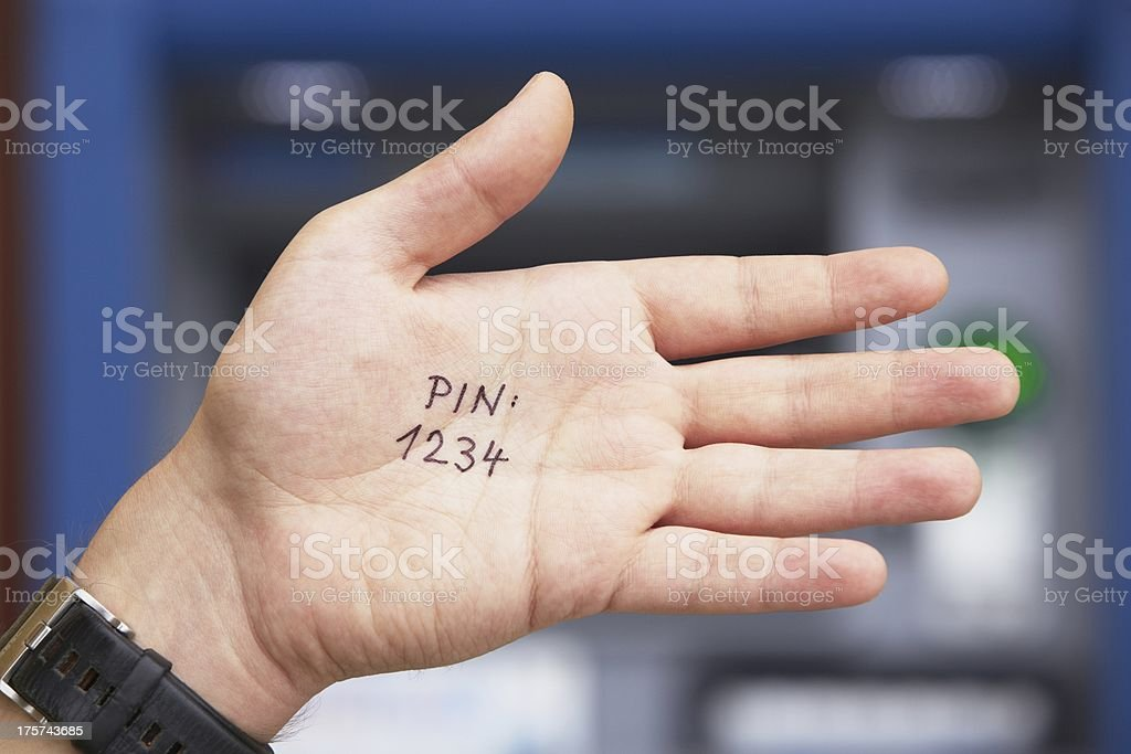 PIN code royalty-free stock photo
