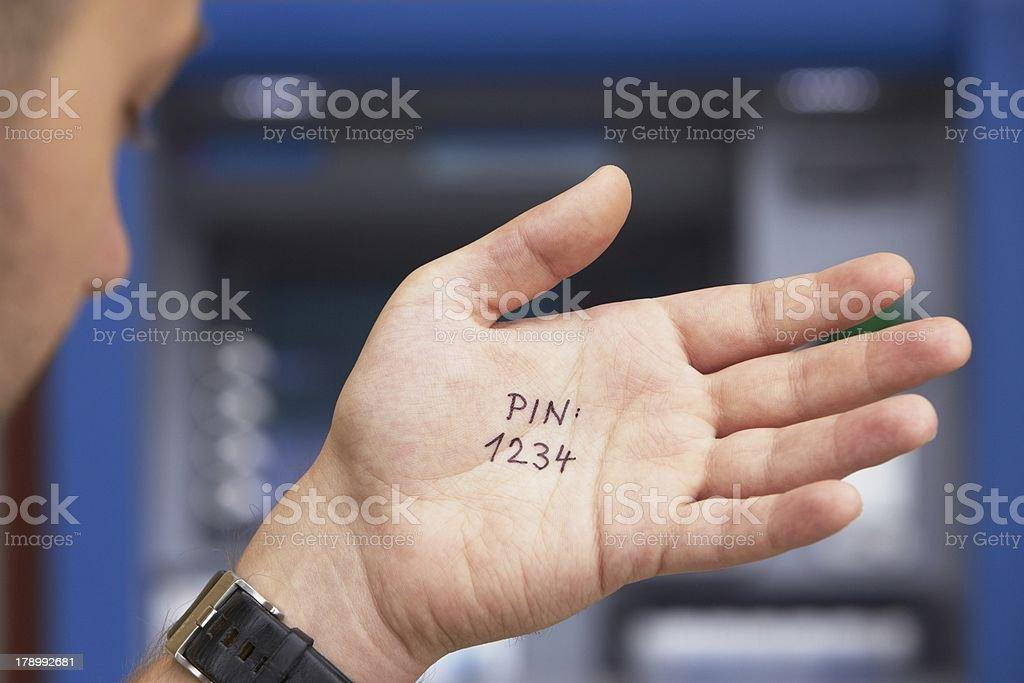 PIN code stock photo
