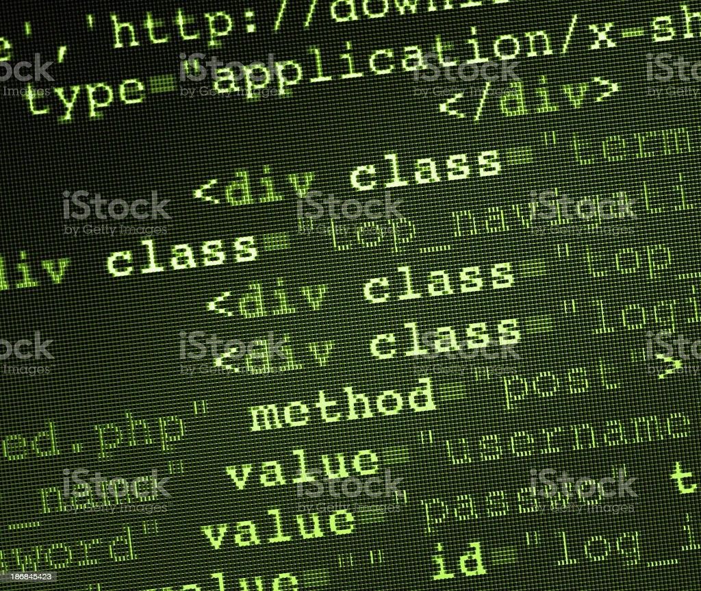 HTML Code royalty-free stock photo