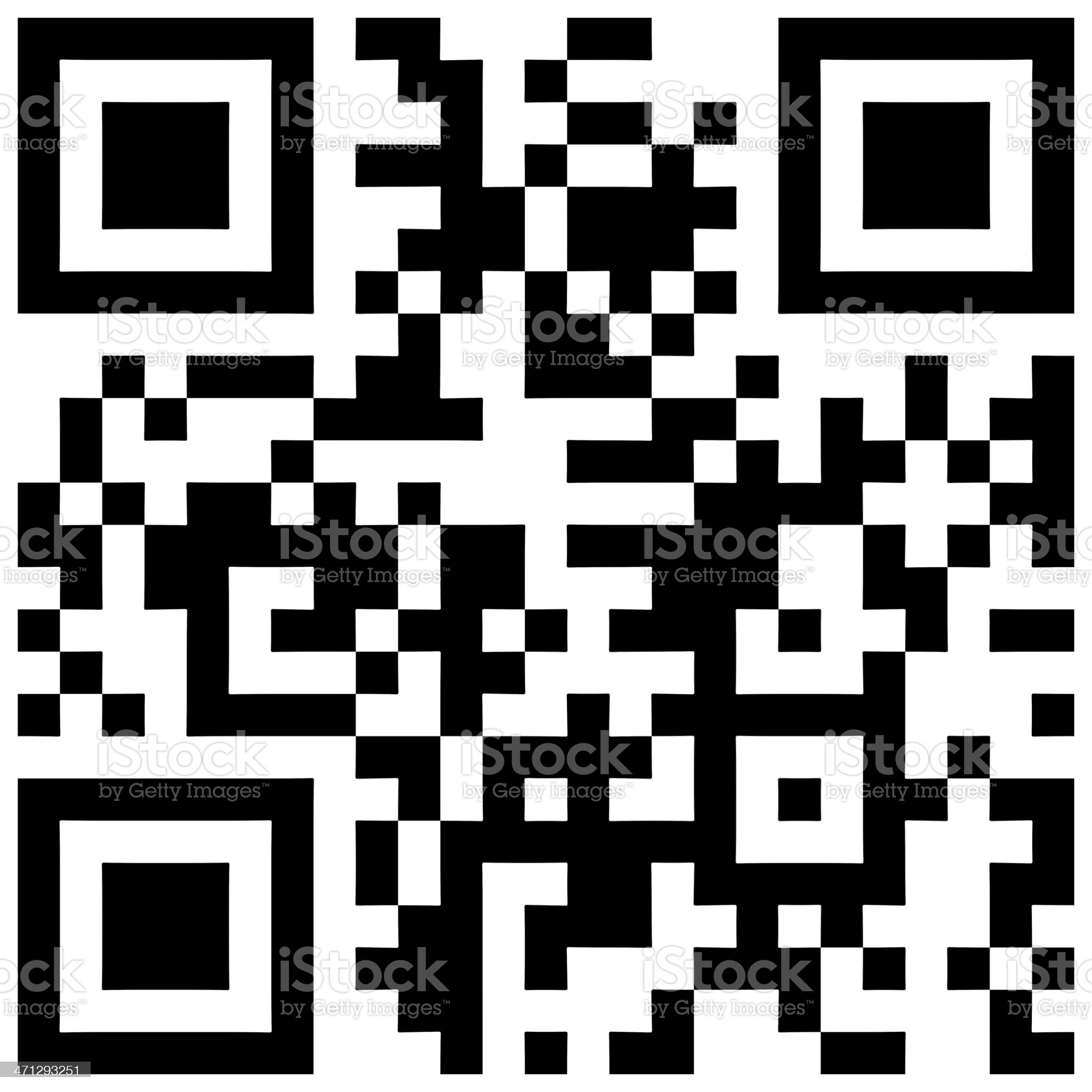 QR Code royalty-free stock photo