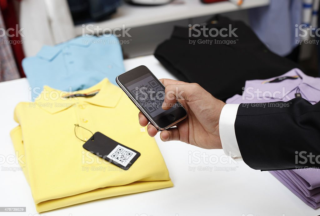 QR code shopping royalty-free stock photo