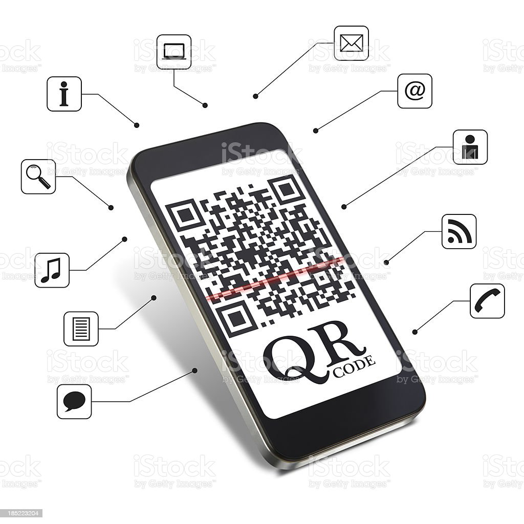 QR code technology royalty-free stock photo