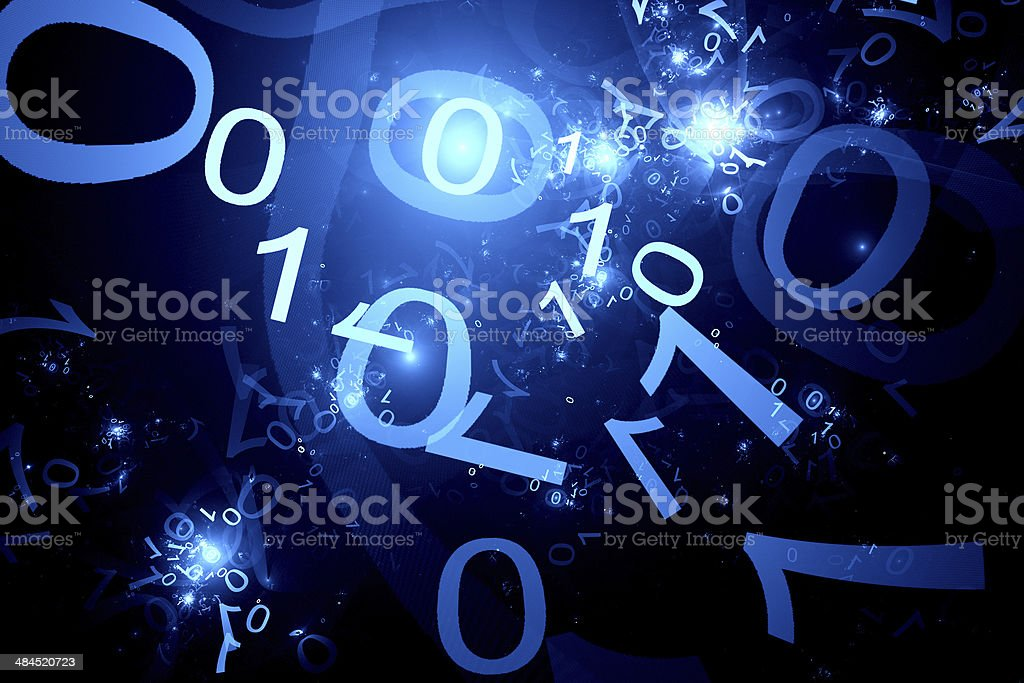 Code zero one in cyberspace royalty-free stock photo