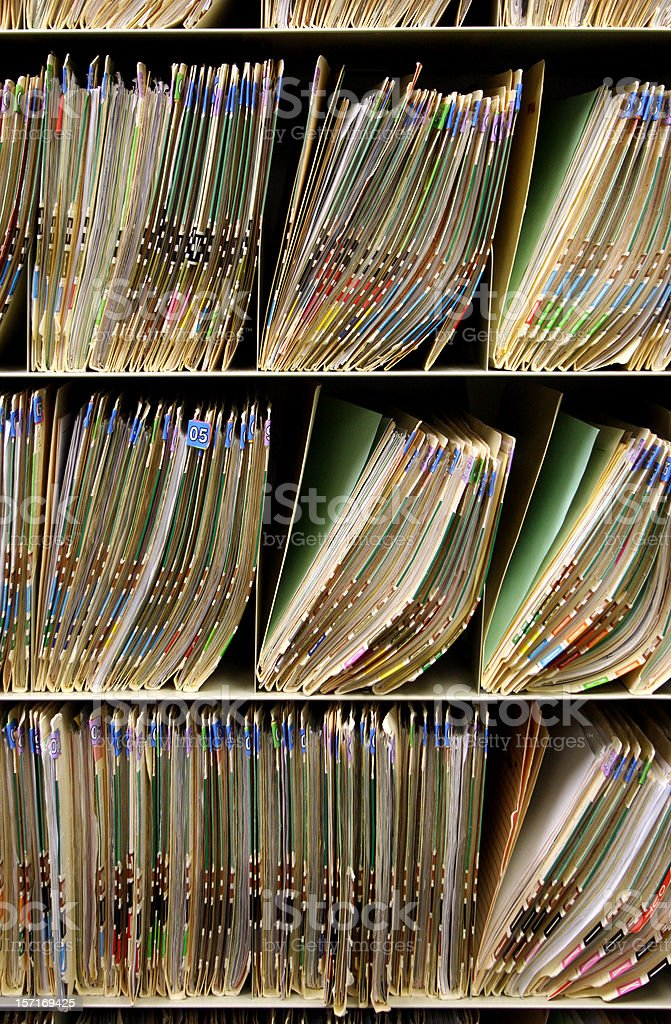Coded Files 2 Vertical royalty-free stock photo