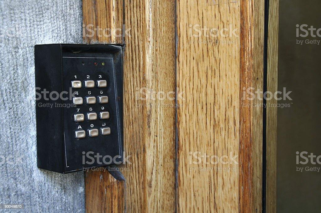 Codelock entrance stock photo
