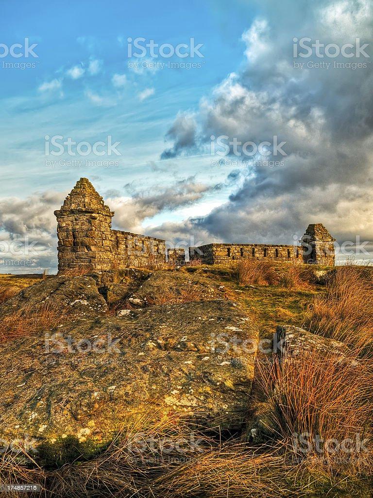 'Codger Fort, Folly, Rothbury, Northumberland, UK' stock photo