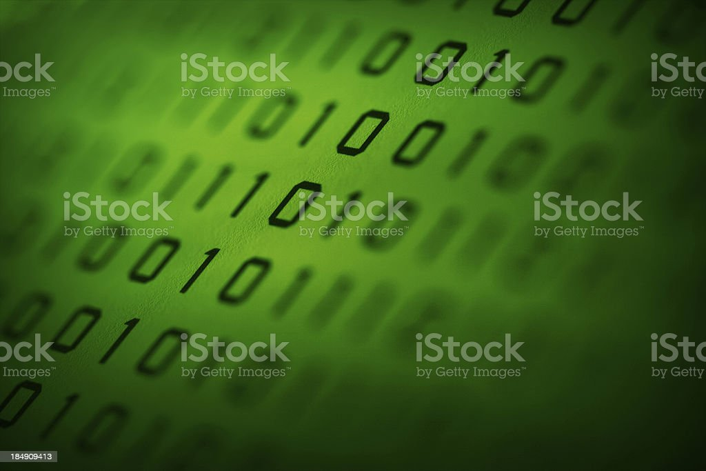 Codificated royalty-free stock photo
