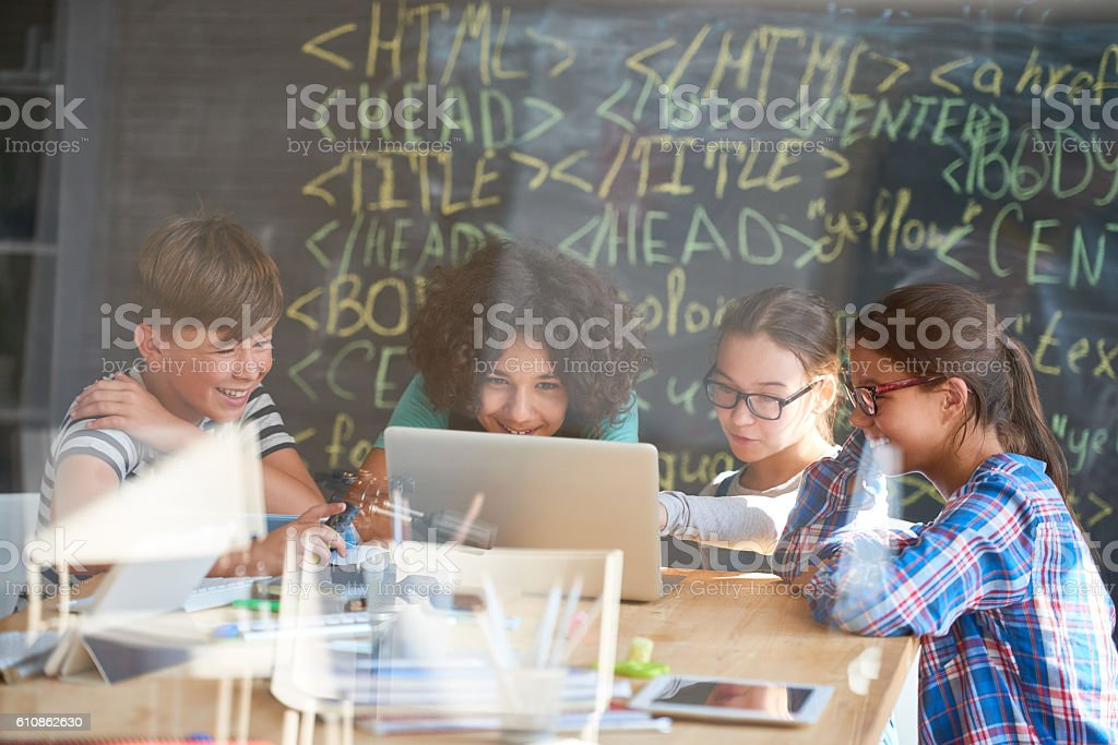 Coding for kids stock photo