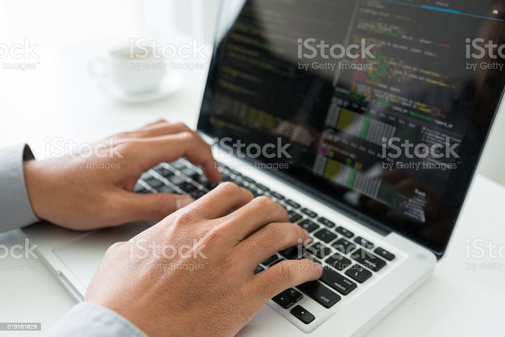 Coding stock photo