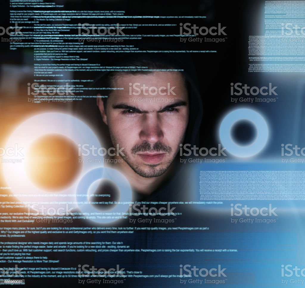 Coding till the sun comes up stock photo