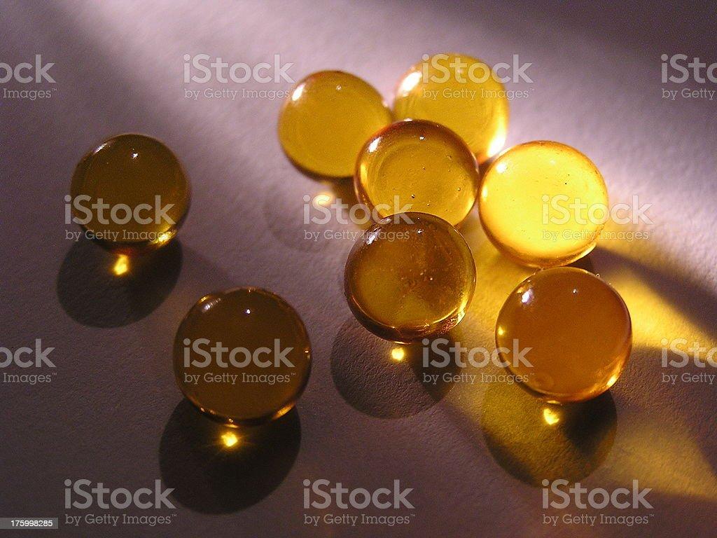 Cod-liver oil pills stock photo