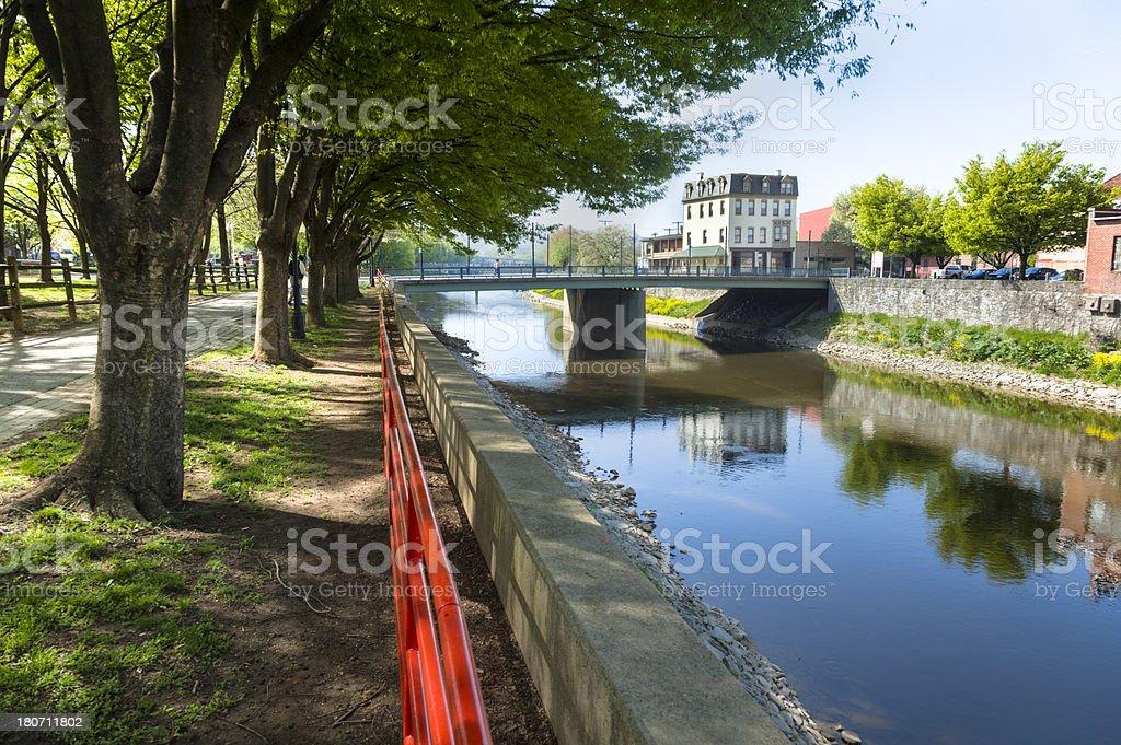 Codorus Creek in York, Pennsylvania royalty-free stock photo