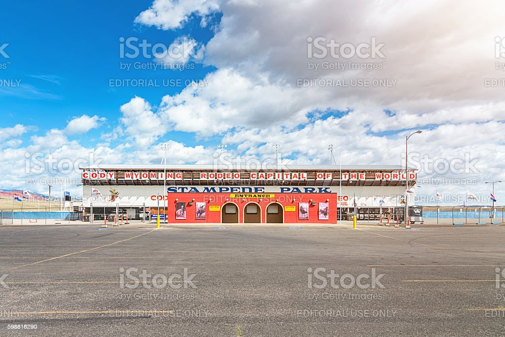Cody Wyoming Rodeo Stampede Park Arena Wyoming USA stock photo