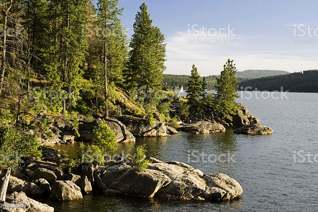 Coeur d'Alene Lake stock photo