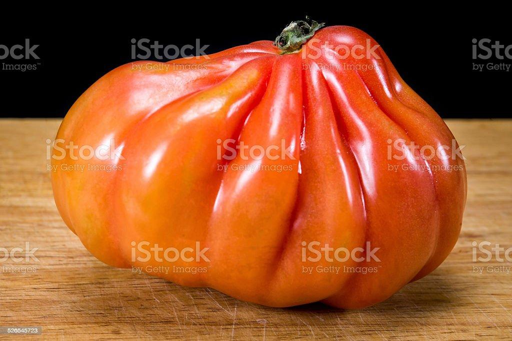 coeur de boeuf tomato stock photo