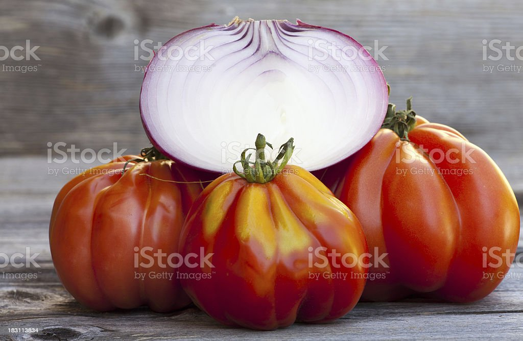 Coeur de Boeuf Tomatoes stock photo
