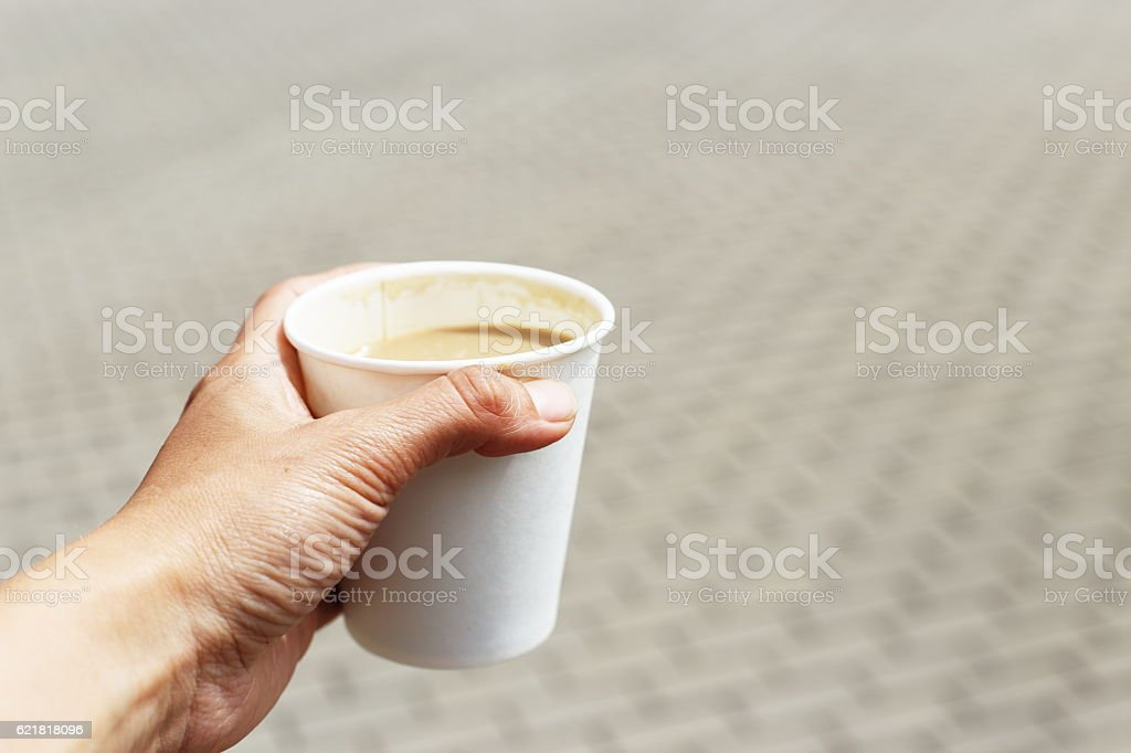 cofee in white cup royalty-free stock photo