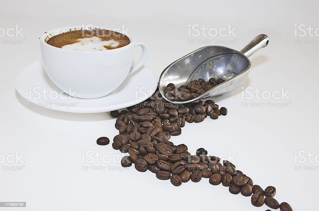 coffe and beans stock photo