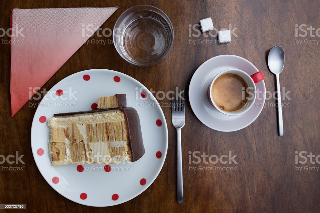 Coffe and Cake stock photo