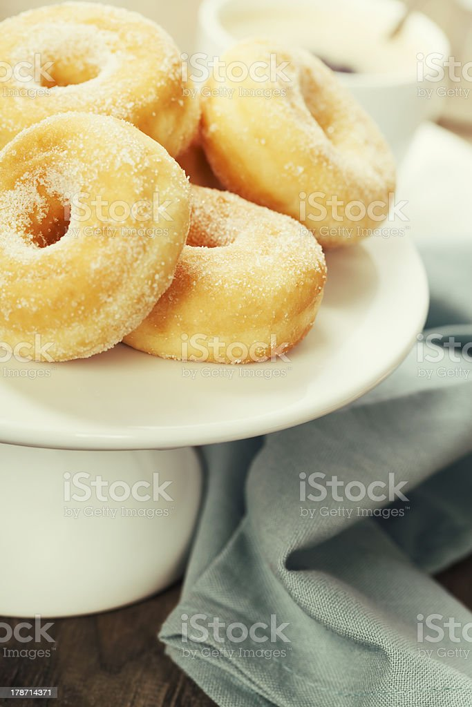 coffe and fresh donuts royalty-free stock photo