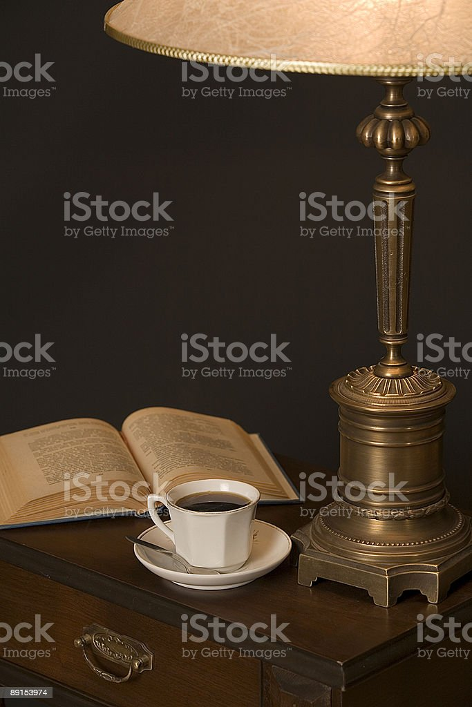 coffe and read royalty-free stock photo