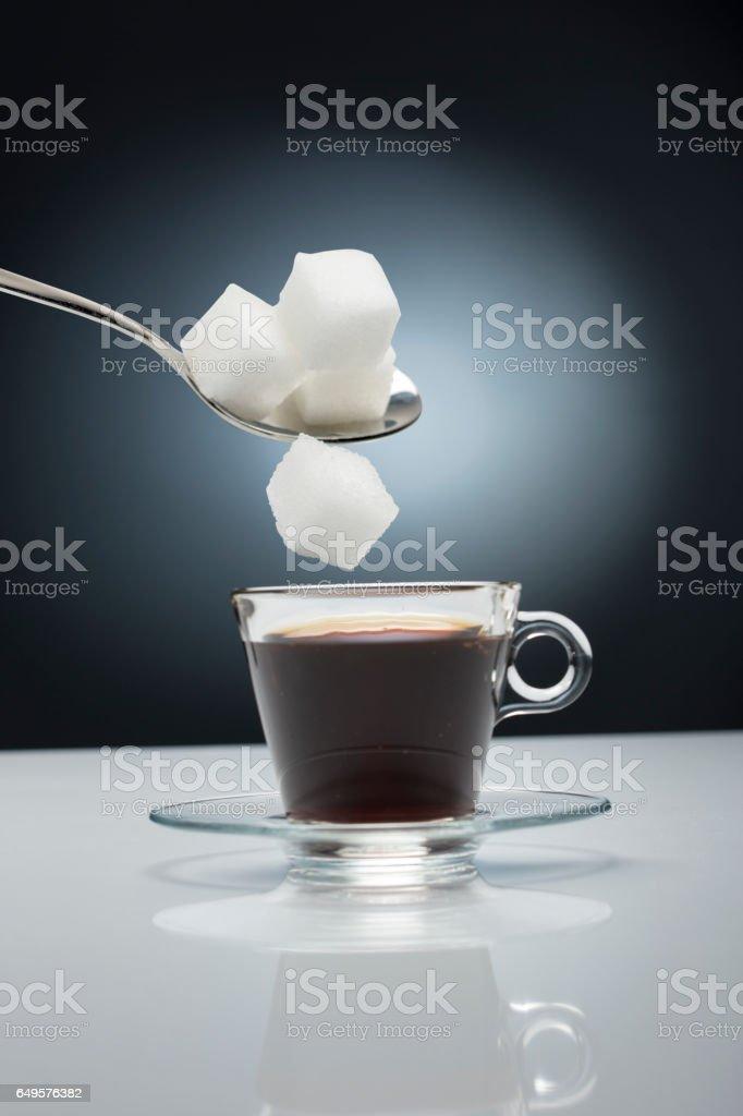 coffe and sugar stock photo