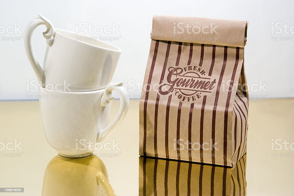 Coffe Bag With Cups royalty-free stock photo