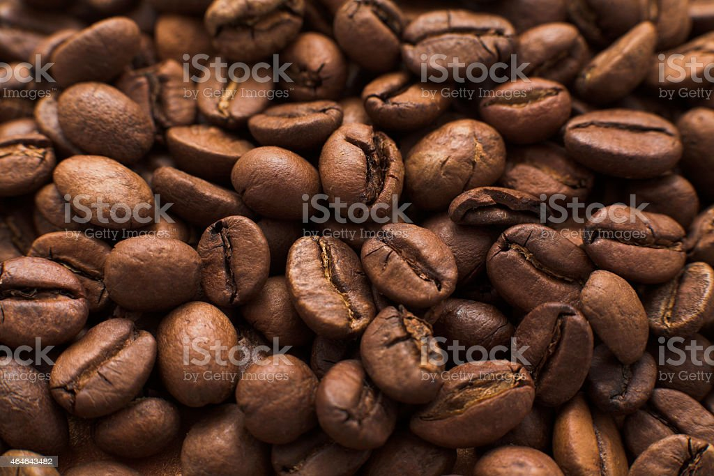coffe beans close up stock photo