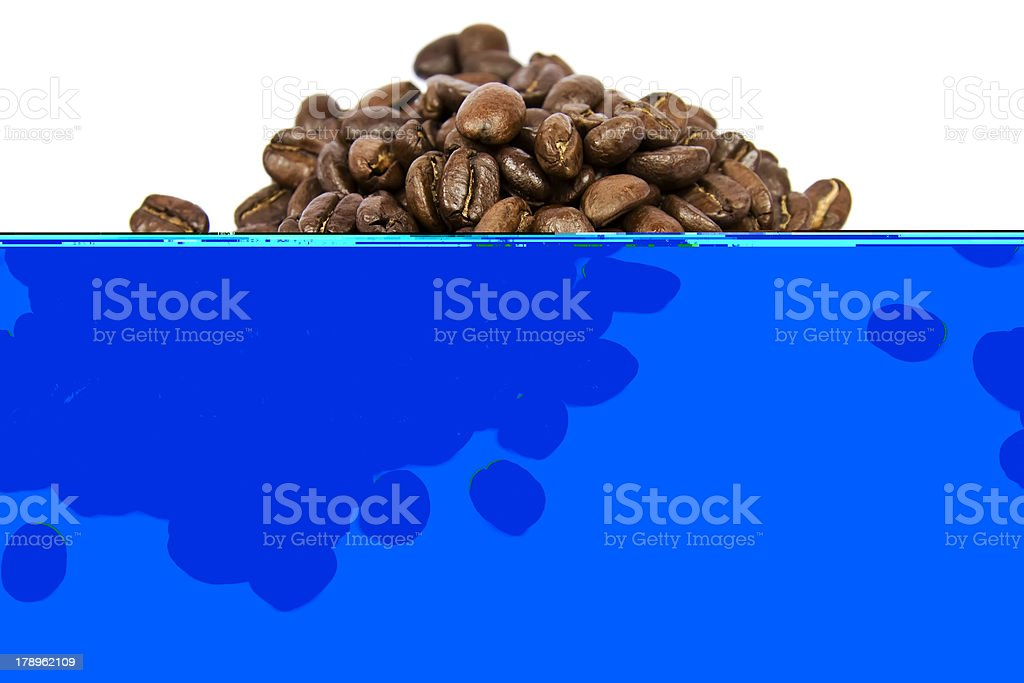 Coffe beans isolated on white royalty-free stock photo