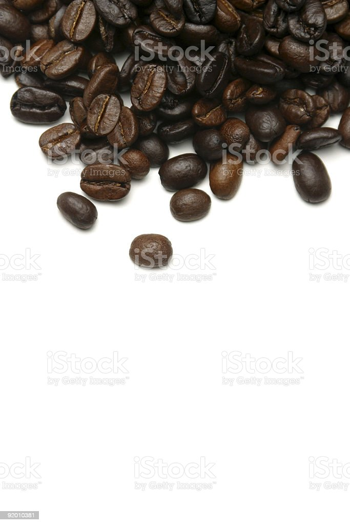 coffe beans top page royalty-free stock photo