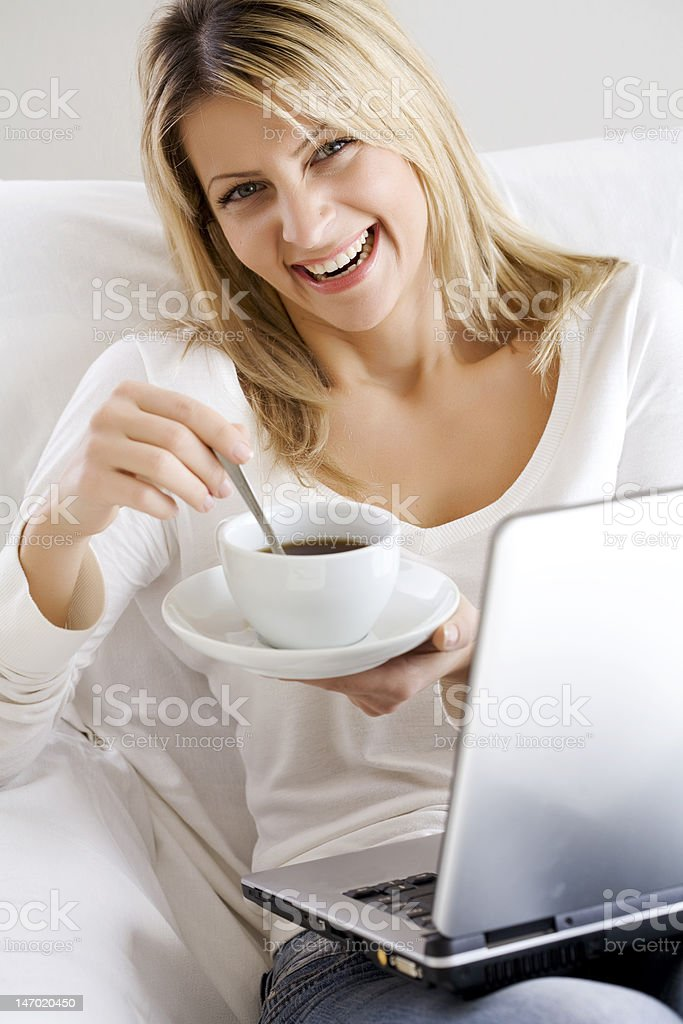 coffe computer time stock photo