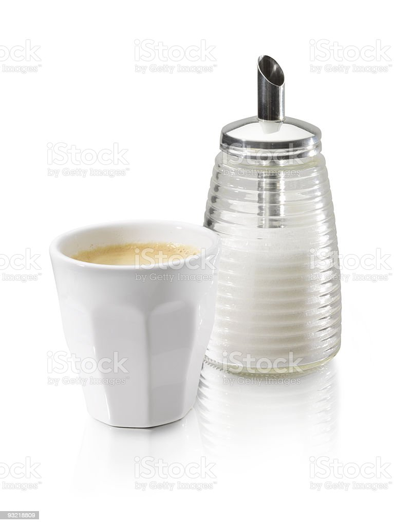 coffe cup sugar royalty-free stock photo