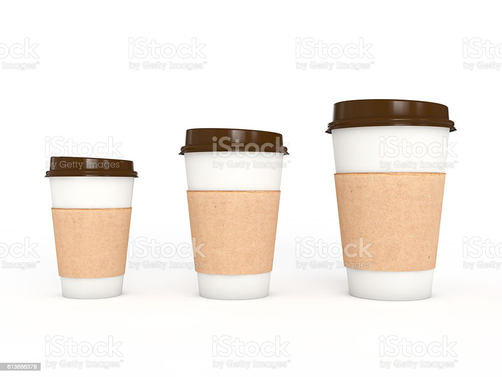 Coffe or tea cup, 3d illustration stock photo