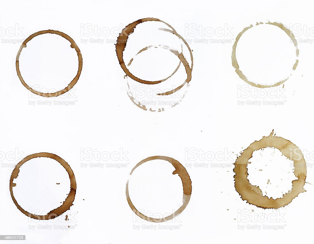 coffe stains stock photo