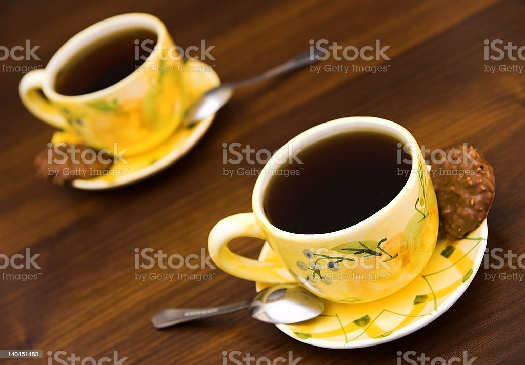 Coffe with cookie royalty-free stock photo