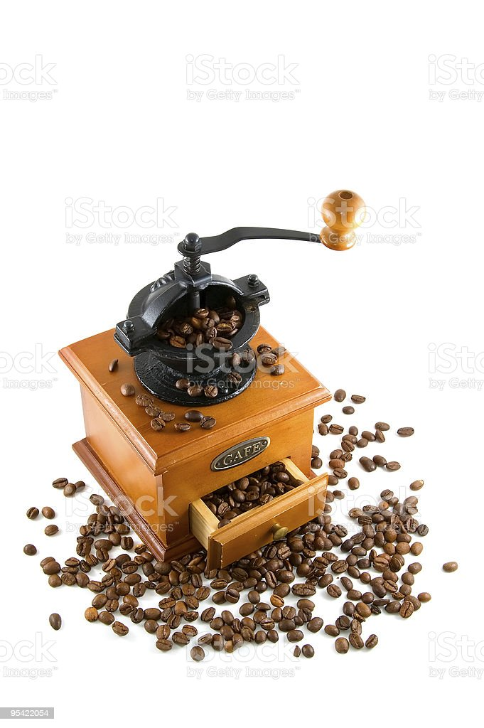 coffebeans and grinder royalty-free stock photo