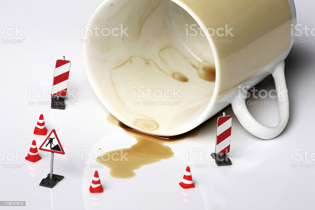 coffee accident royalty-free stock photo