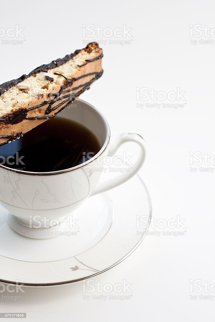 Coffee & Biscotti royalty-free stock photo